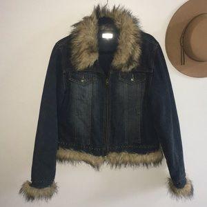 Giacca / Retro Denim Fur Jacket